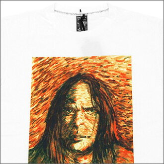 NUMBER (N) INE number nine Neil Young van Gogh T shirt WHITExORANGE/NT042