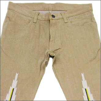 NUMBER(N)INE(号码九)奥尔特加刺绣牛仔裤MAROON