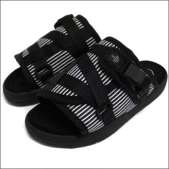 现在在采购金额超过总 5000 日元 (税排除) 装运 !达 (01 / 05) 山胡桃木 vizvm) VISVIM 克里斯托凉鞋 BLACKxWHITExNAVY 292-000100-037 x