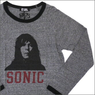 "HYSTERIC GLAMOUR hysteric glamour MC5 Fred ""Sonic"" Smith Raglan long sleeve shirt GRAY 202-000318-032 +"