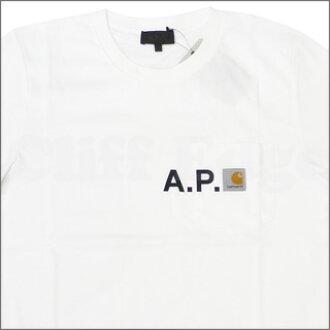 A.P.C.( Apacer ) ( Carhartt ) x CARHARTT pocket t-shirt WHITE 200 - 003455 - 030x