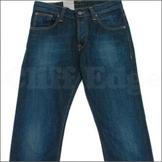 NUDIE JEANS(牛羚D牛仔裤)AVERAGE JOE ORG.STRIKEY ECO WASH[牛仔裤][平均乔]INDIGO 1001万零860+[☆★]