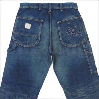 策划者日本 (策划者日本) x 李 (李) pettanko 画家粗斜纹棉布裤靛蓝 240-000907 644 x