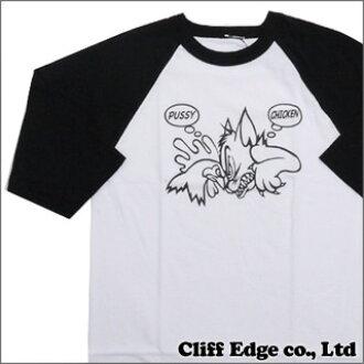 SSUR x Deadline Pussy Chicken Raglan (raglan sleeves T-shirt) BLACK 999-001977-031+