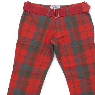 PEEL&LIFT(皮尔和缆车)TARTAN ARMY TROUSERS(裤子)Robertson Red Weathered tartan 420-000004-043-