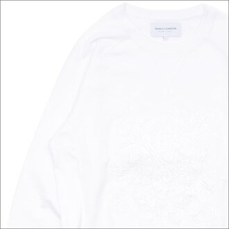 2168afcaf31625 Cliff Edge  Bianca Chandon Floral Crewneck (sweat shirt) WHITE 209 ...