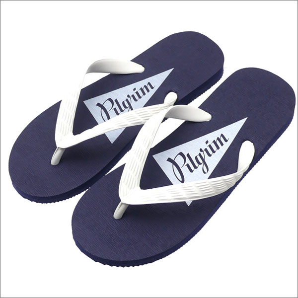 Pilgrim Surf Supply ピルグリム サーフ サプライ Flip Flop Beach Sandals ビーチサンダル NVYxWHT WHT 292000200267 【新品】