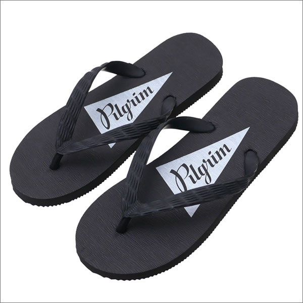 Pilgrim Surf Supply ピルグリム サーフ サプライ Flip Flop Beach Sandals ビーチサンダル BLKxBLK WHT 292000200261 【新品】