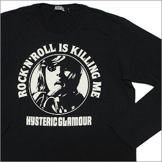 HYSTERIC GLAMOUR(歇斯底里的语法)ROCK'N'ROLL IS KILLING ME长袖子T恤