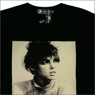 HYSTERIC GLAMOUR (Louis Vuitton) Edie-LOOKIN ' UP photo T shirt BLACK
