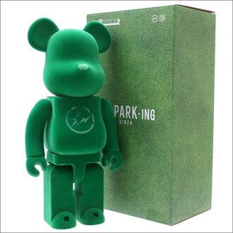THE PARK、ING GINZA(这个停车银座)x MEDICOM TOY(迈迪康姆)BE@RBRICK fragment design 400%(beaburikku)(花样滑冰)GREEN 283-000416-015+