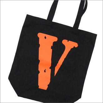 VLONE(비론) x Fragment Design(fragment 디자인) CANVAS TOTE JAIL V FRAGMENT (토트 백) BLACK 277-002364-011+ THE PARK・ING GINZA(더・주차 긴자)