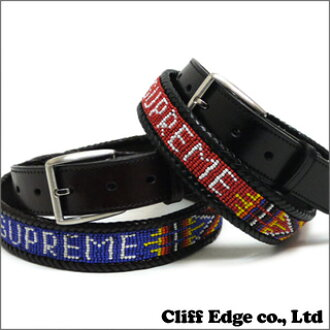 SUPREME Leather Beaded Belt[皮带]BLACK/BROWN 284-000278-031-
