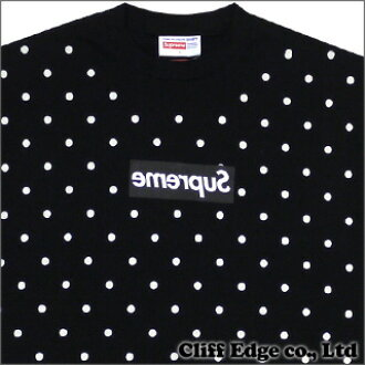 bd3dcc32 Cliff Edge: SUPREMEx COMME des GARCONS SHIRTBOX logo T-shirt BLACK ...