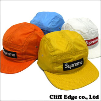 SUPREME Ripstop Camp CAP [BOX 로고 캡] YELLOW/WHITE/ORANGE/BLUE 265-000245-010-