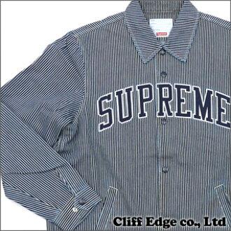 最高的牛仔教练外套 (外套) 条纹牛仔布 228-000091-044 +