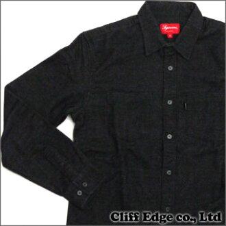 SUPREME Flannel Work Shirt(长袖子衬衫)BLACK 216-001116-031x