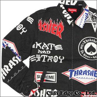 a7b9905f8f2 SUPREME x Thrasher Work Jacket (jackets work) + 230-000888-141 BLACK