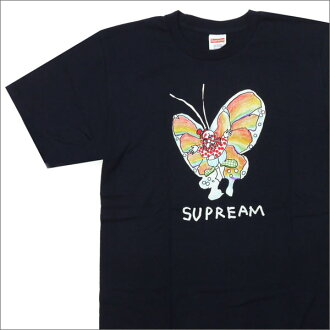 SUPREME 200-006911-157 NAVY Gonz Butterfly Tee (T shirt) +