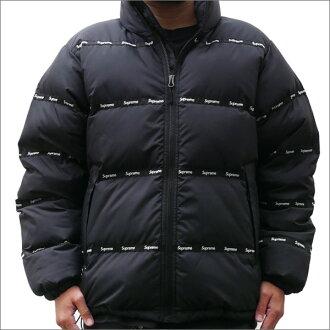最高 (shupurimu) 226-000190-041 黑色 Logo 磁带浮肿外套 (外套) +