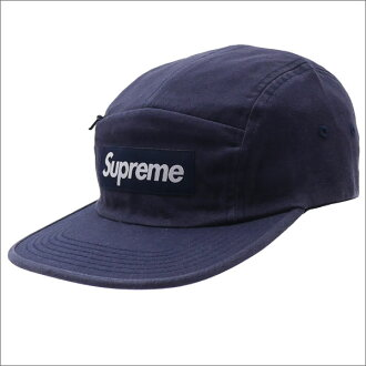 SUPREME(shupurimu)Front Panel Zip Camp Cap(露营盖子)NAVY 265-000831-017+