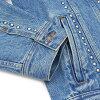 SUPREME(shupurimu)Studded Denim Trucker Jacket(粗斜纹布茄克)(G约翰)BLUE 224-000098-044+