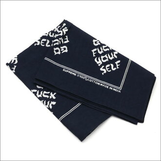 SUPREME Go Fuck Yourself Bandana BLACK 280-000116-011+