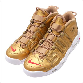 NIKE(耐克)x SUPREME(shupurimu)AIR MORE UPTEMPO(空气更拍子愈来愈快)(运动鞋)(鞋)METALLIC GOLD/WHITE 902290-600 291-002237-298+