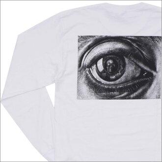 SUPREME(shupurimu)x M.C.Escher(maurittsu·essha)Eye L/S Tee(长袖子T恤)WHITE 202-000863-040+