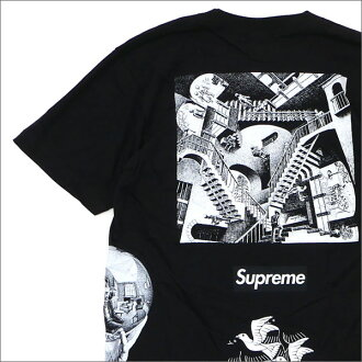 SUPREME x M.C.Escher Collage Tee (T-shirt) BLACK 200-007394-131+