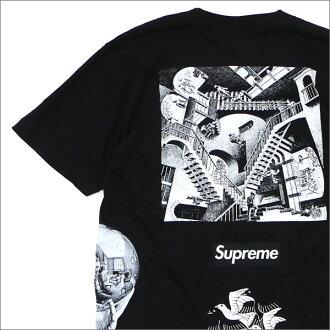 SUPREME(shupurimu)x M.C.Escher(maurittsu·essha)Collage Tee(T恤)BLACK 200-007394-131+