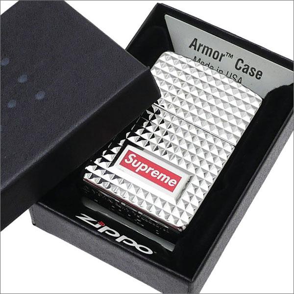SUPREME(シュプリーム) Diamond Cut Zippo (ジッポ)(ライター) SILVER 290-004424-012+【新品】