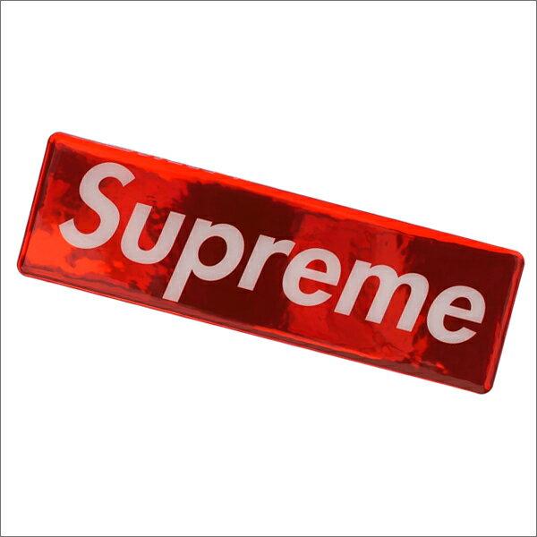 SUPREME(シュプリーム) Raised Plastic Box Logo Sticker (ステッカー)(ボックスロゴ) RED 290-004429-113+【新品】