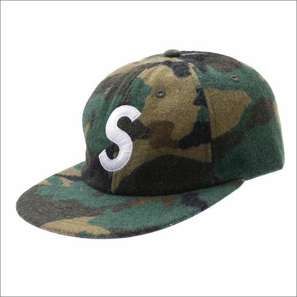 SUPREME(シュプリーム) Wool S Logo 6-Panel (6パネルキャップ) CAMO 265-000952-015+【新品】