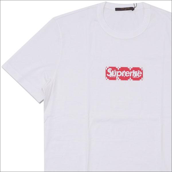 シュプリーム SUPREME x LOUIS VUITTON ルイ・ヴィトン Monogram Box Logo Tee Tシャツ WHITE 418000075030 【新品】