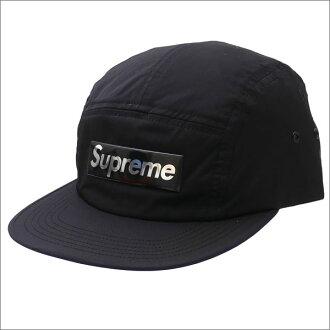 SUPREME(shupurimu)Liquid Metal Logo Camp Cap(露營蓋子)BLACK 265-000962-111+
