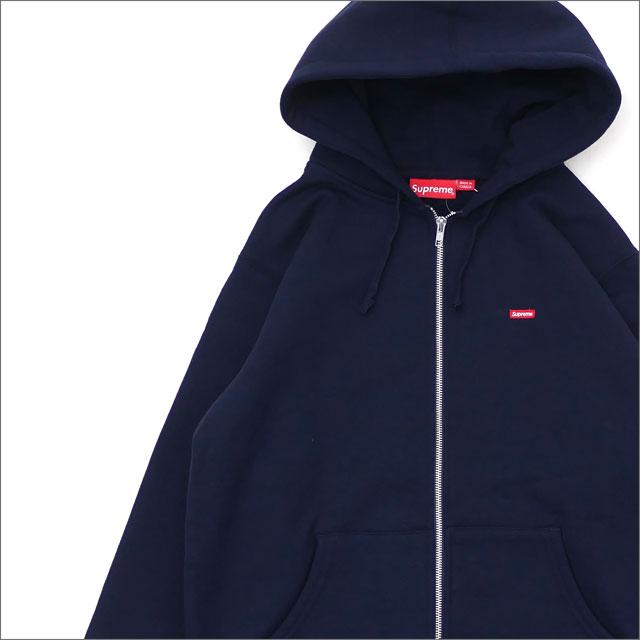 SUPREME(シュプリーム) Small Box Zip Up Sweatshirt (スウェットパーカー) NAVY 212-001014-037+【新品】