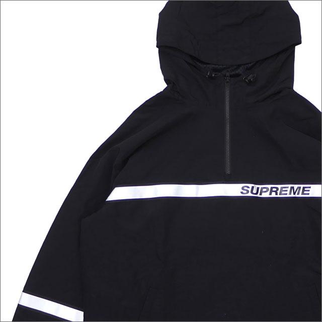 SUPREME(シュプリーム) Reflective Taping Hooded Pullover (ジャケット) BLACK 211-000556-051+【新品】