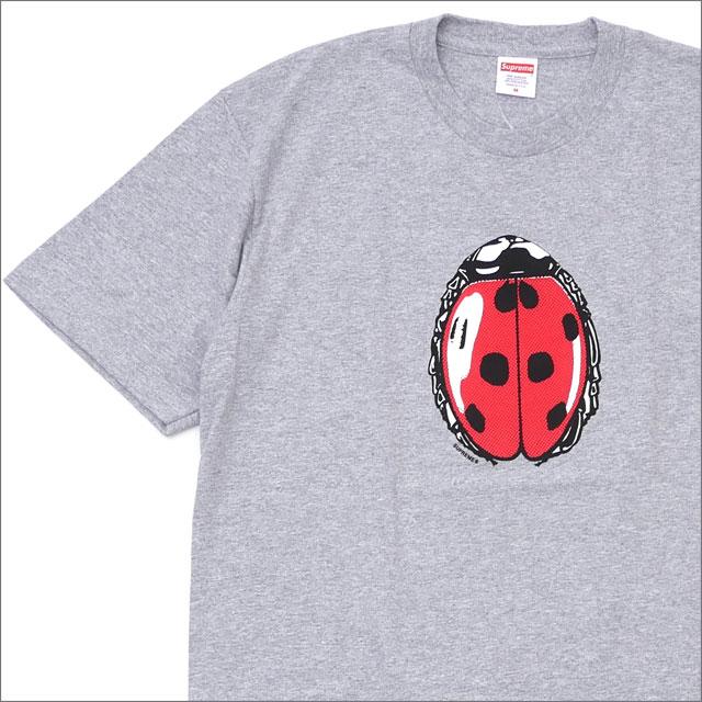 【合計15,000円(税抜)以上のお買い上げでステッカープレゼント!】 SUPREME(シュプリーム) Ladybug Tee (Tシャツ) GRAY 200-007796-042+【新品】
