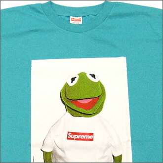SUPREME (shupurimu) Kermit The Frog T shirt TEAL