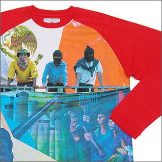 SUPREME(shupurimu)ZAPATISTA插肩式T恤RED