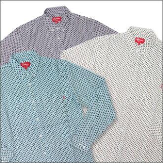 SUPREME (shupurimu) Paisley Oxford long sleeve shirt 216-000285-040