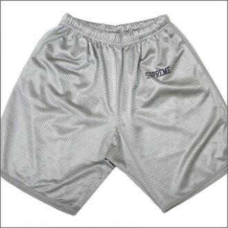 SUPREME (shupurimu) Mesh Short [mesh shorts, GRAY 244 - 000349 - 032x [☆ ★]