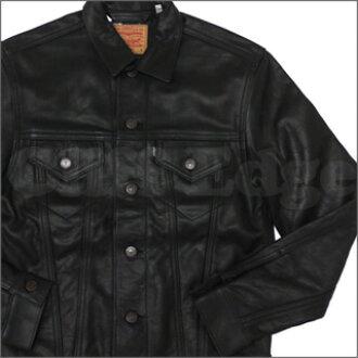 SUPREME (shupurimu) x Levi's ( Levis ) Leather Trucker Jacket BLACK 230 - 000490 - 041x