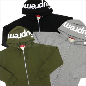 SUPREME(shupurimu)HOOD LOGO THERMAL ZIP-UP Parker 212-000585-031-[☆★]
