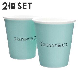 TIFFANY&CO. (Tiffany) bone china cup two set BLUE 290-004519-014+ wedding present celebration present Valentine dish tableware earthenware pair gift