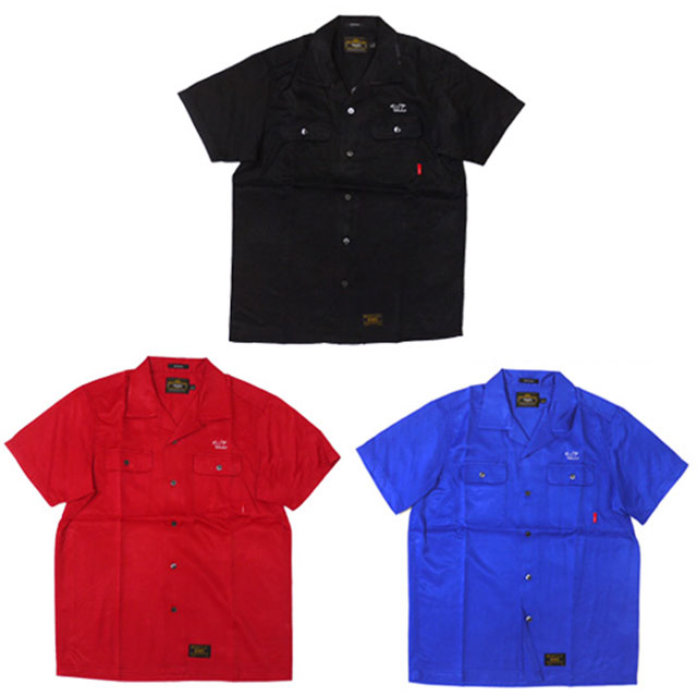 WTAPS VATOS RACO SATIN 半袖シャツ BLACK RED BLUE 215001069031 【新品】 315000027031 (W)TAPS