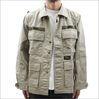WTAPS JUNGLE LS 01 (jungle shirt) (shirt) (jacket) COFFEE STAIN 230-000965-036-