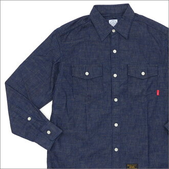 WTAPS(双发快射)ALLMAN LS/SHIRT.COTTON.CHAMBRAY(长袖子衬衫)171GWDT-SHM06 INDIGO 216-001476-047-