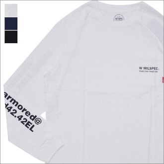 WTAPS (double taps) W MIL/SCREEN LS TEE (long sleeves T-shirt) 172ATDT-LT01S 202-000909-051-